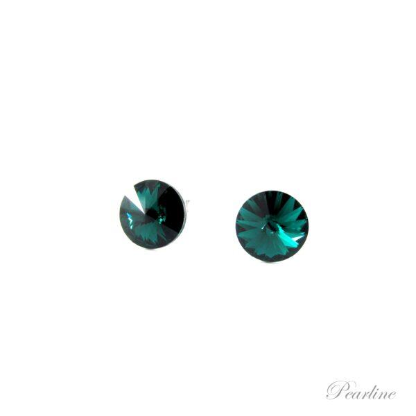 cercei verzi cristale swarovski