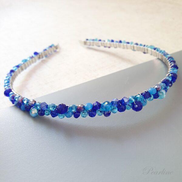 accesoriu par albastru cordeluta