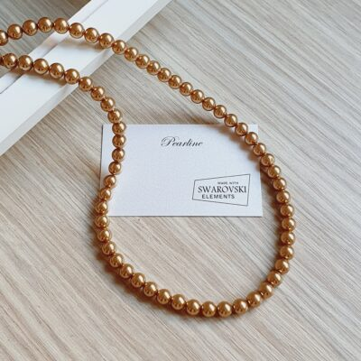 colier auriu din perle elegant